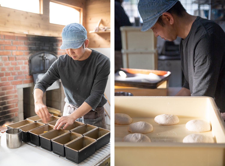 パンを作る井上さん